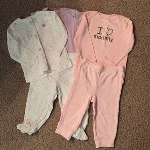 2 Carter's Onesie and Pant Sets